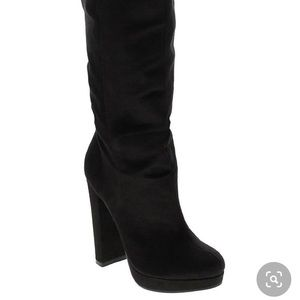 Worn once Michael Antonio knee high boot black